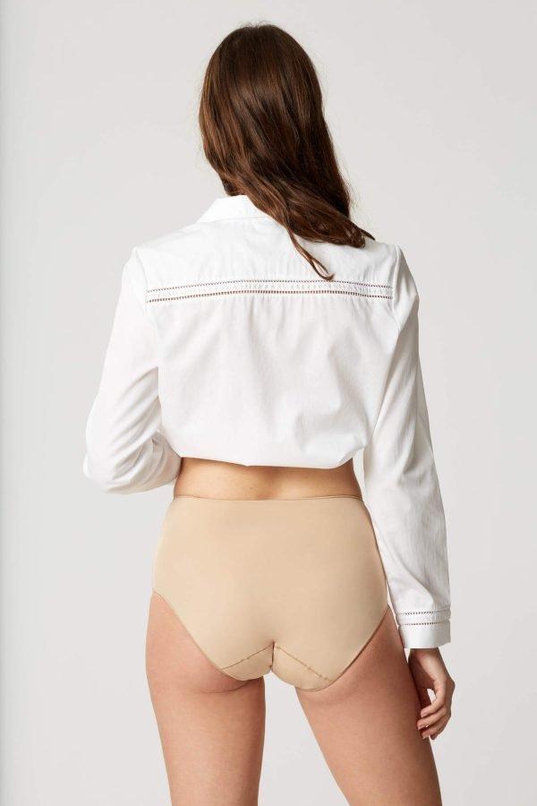 Lejaby Seamless High Waisted Briefs Nude