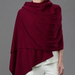 Lemonwood Cashmere - Tulip Travel Wraps Burgundy