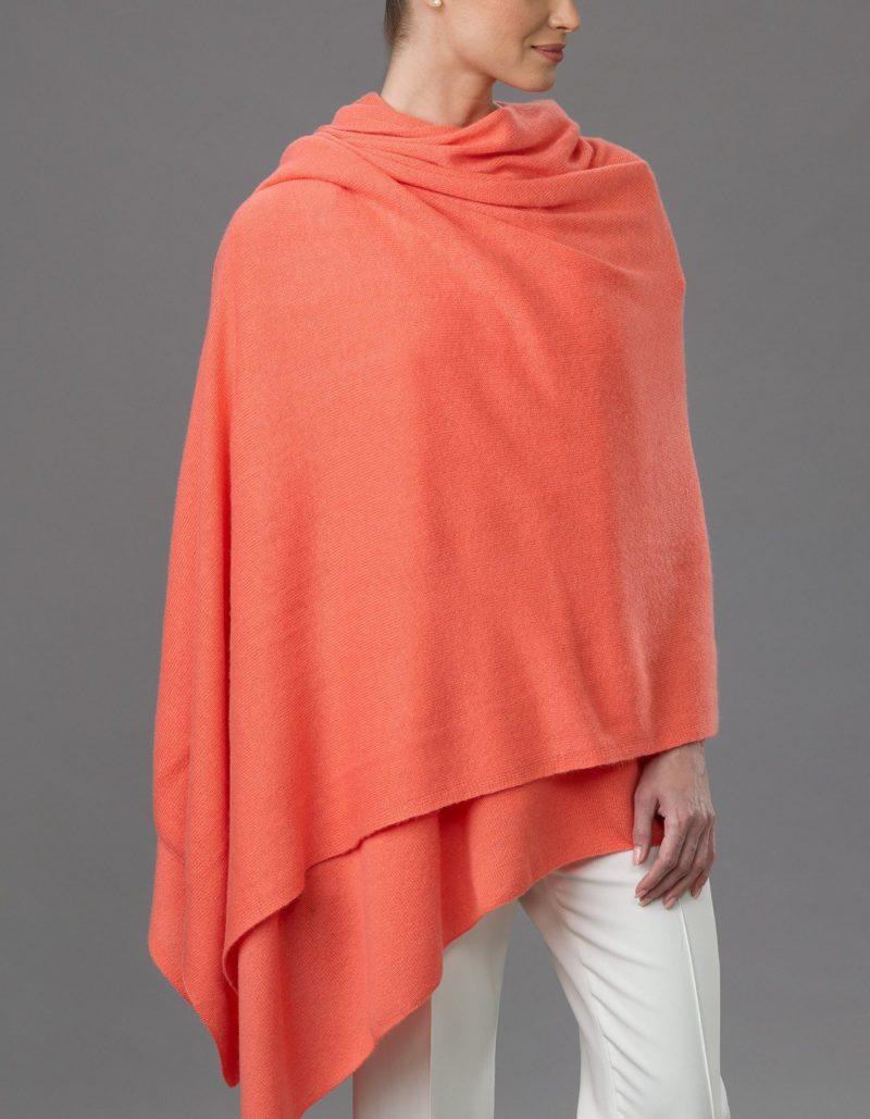 Lemonwood Cashmere - Tulip Travel Wraps Tangerine