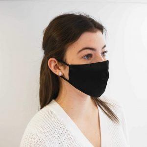 Fashion Face Mask – Black Silk
