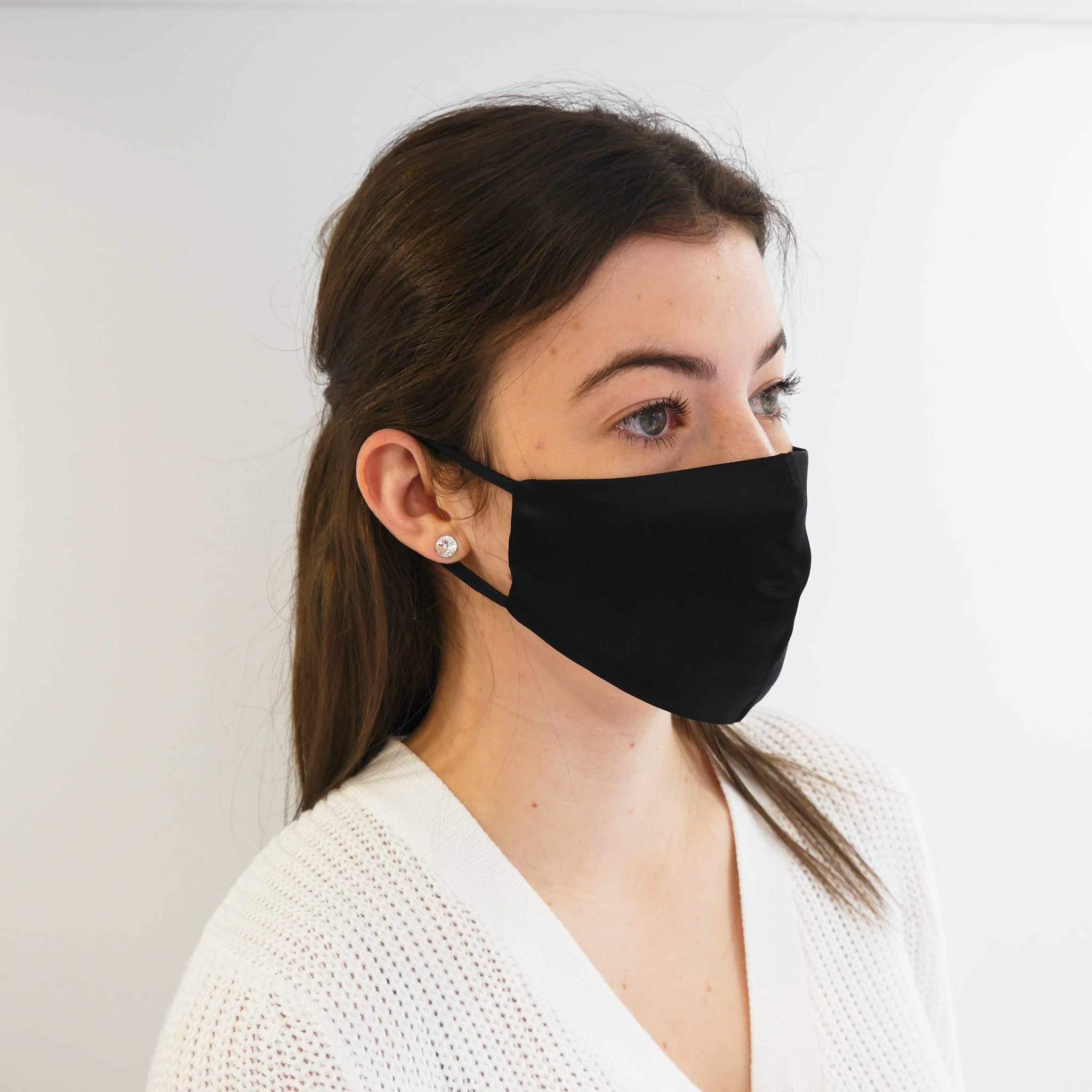 Fashion Face Mask – Black Silk