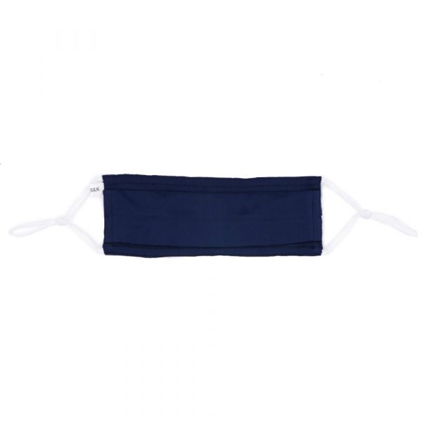 Pleated Fashion Face Mask - Indigo Silk
