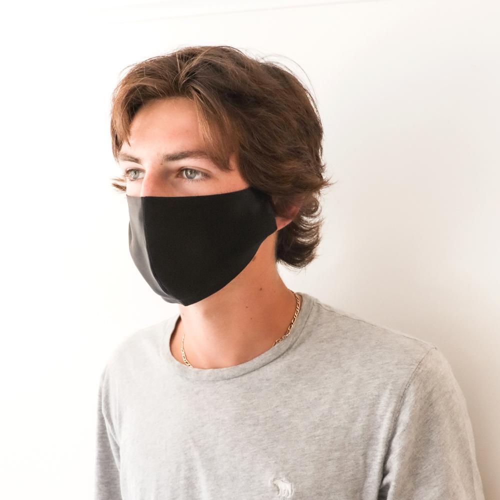 Men's Fashion Face Mask – Black Silk