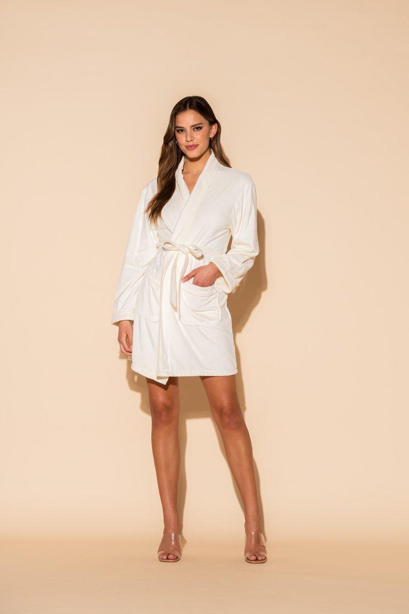 VP Wrap Up Bride Short Robe